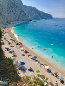 The beaches on the island of Lefkada are rated as some of the best in the Mediterranean Sea.
